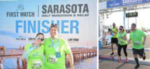 Attorney Brad Ellis and his wife, Megan, completed the Sarasota First Watch 10K