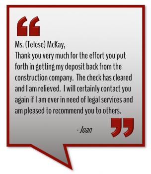 Telese McKay testimonial