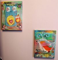 The new nursing room features art by Artist Alicia Accardi
