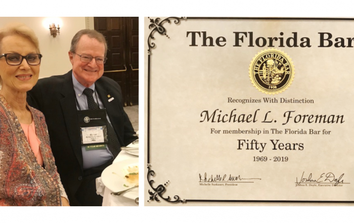 Michael Foreman Honored by The Florida Bar