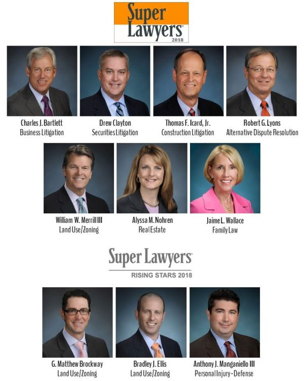Ten Icard Merrill Attorneys Named to 2018 Florida Super Lawyers and Rising Stars
