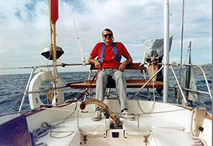 My brother, Al, built his own sailboat and sails around the world