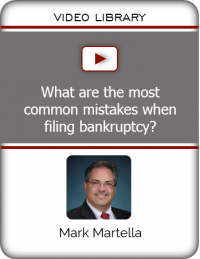 VIDEO - What are the most common mistakes when filing bankruptcy