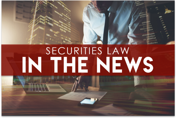 securities law in the news