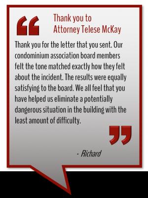 Attorney Telese McKay testimonial