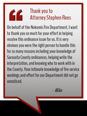 Attorney Steven Rees testimonial