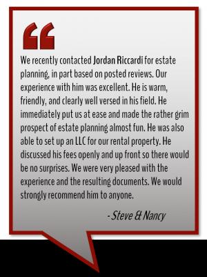 Attorney Jordan Riccardi testimonial