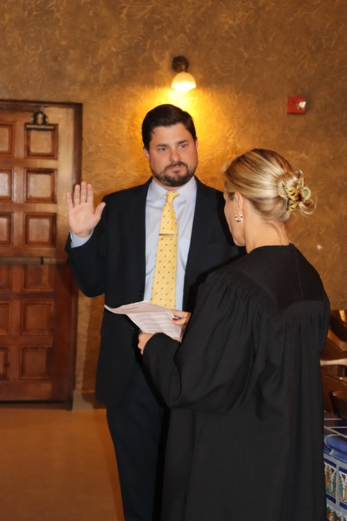 Patrick C. Seidensticker Sworn In