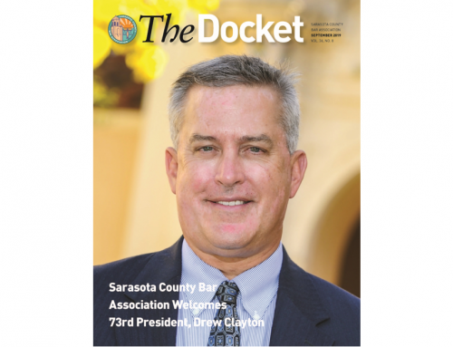 Drew Clayton Featured on Cover of SCBA's The Docket