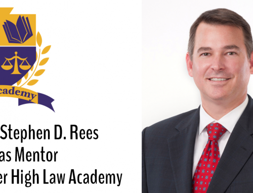 Stephen D. Rees Selected as Mentor for Booker High Law Academy