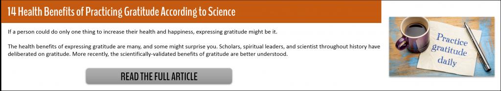14 Health Benefits of Practicing Gratitude