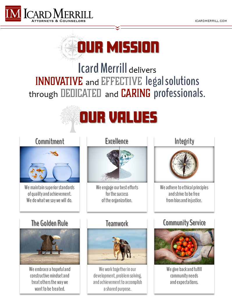 ICARD MERRILL Mission and Values