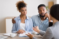 free bankruptcy kit - couple discussing finances