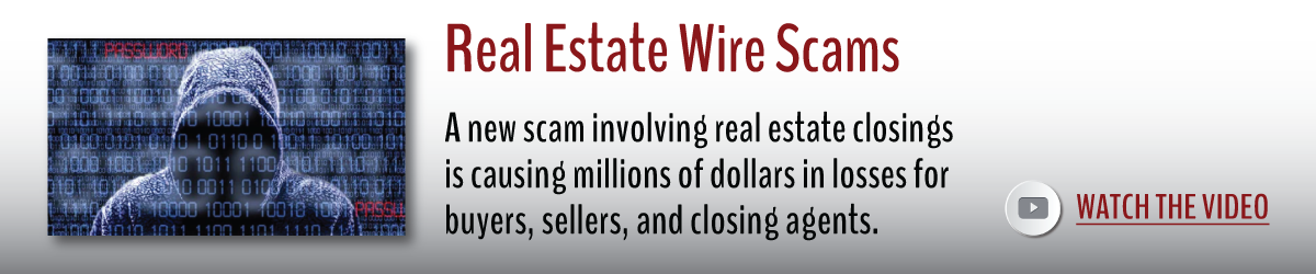 real estate wire scams