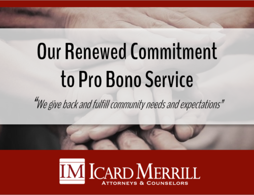 Icard Merrill Renews Commitment to Pro Bono Service